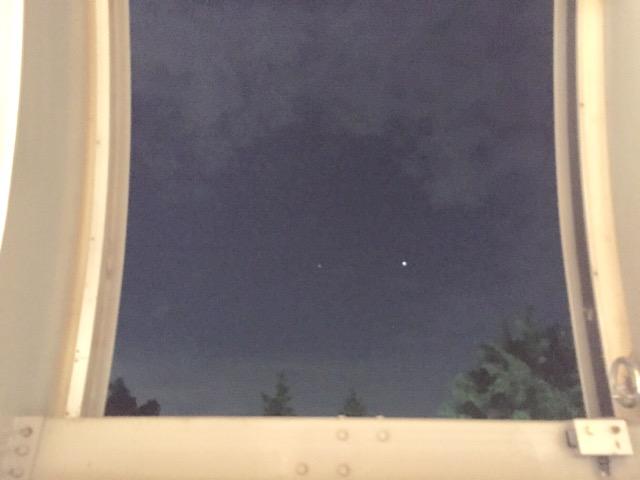 ドームのスリットから見た木星